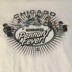 Chicago WhiteSox 2005 Pennant Anvil white T-shirt